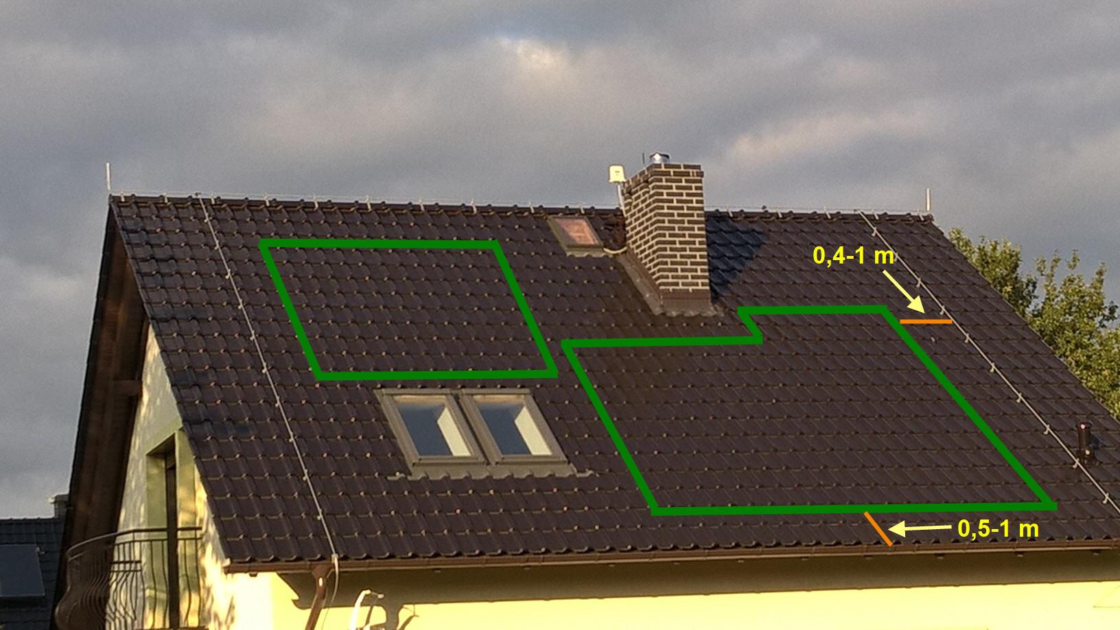 moduły PV na dachu
